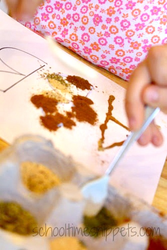 preschoolers exploring sense of smell