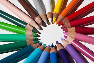 pensil warna, pewarna, warna-warni,