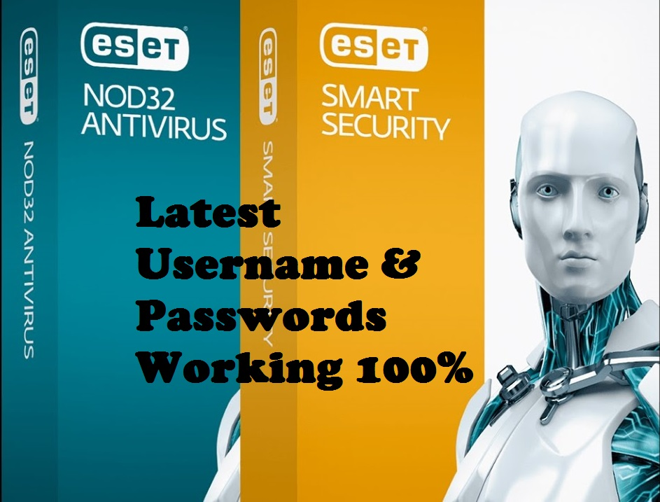 eset nod32 9 smart security username and password