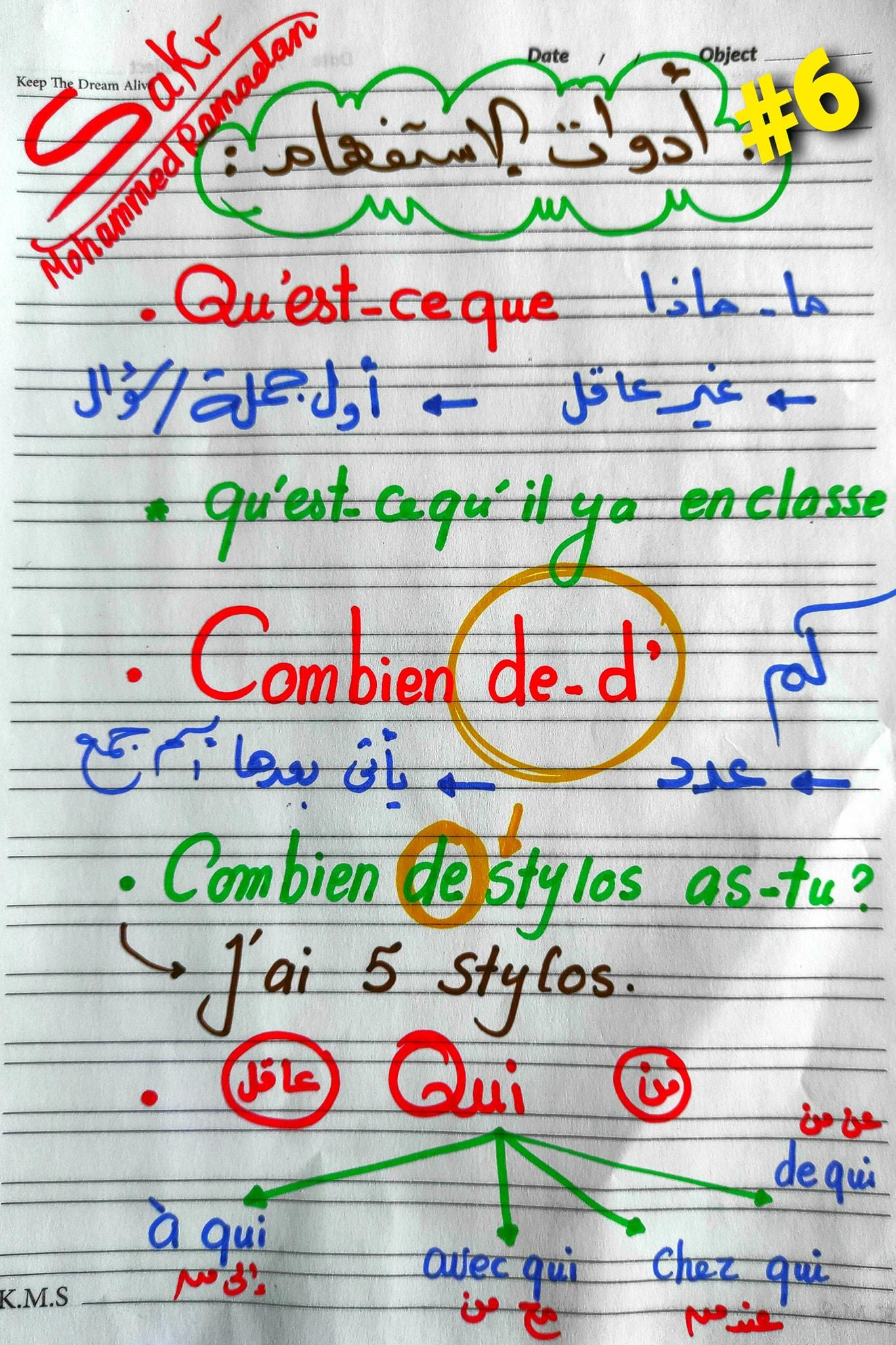 مراجعة شاملة لغة فرنسية للصف الاول الثانوي ترم ثاني.. أهم الكلمات والقواعد و 200 سؤال مجاب  5