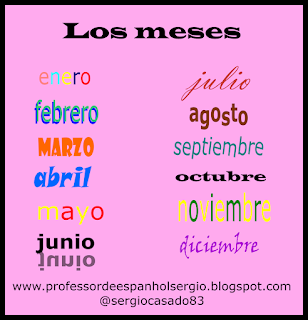 os meses em espanhol, Vocabulário, Aprender Espanhol, Aprender Espanhol Youtube, Espanhol, Curso de Espanhol, Dicas de espanhol