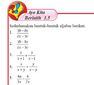 Ayo Berlatih 3.5 ,Matematika Kelas 7 Halaman 238