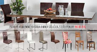 Akcia na jedálenské stoly a stoličky Reaction.