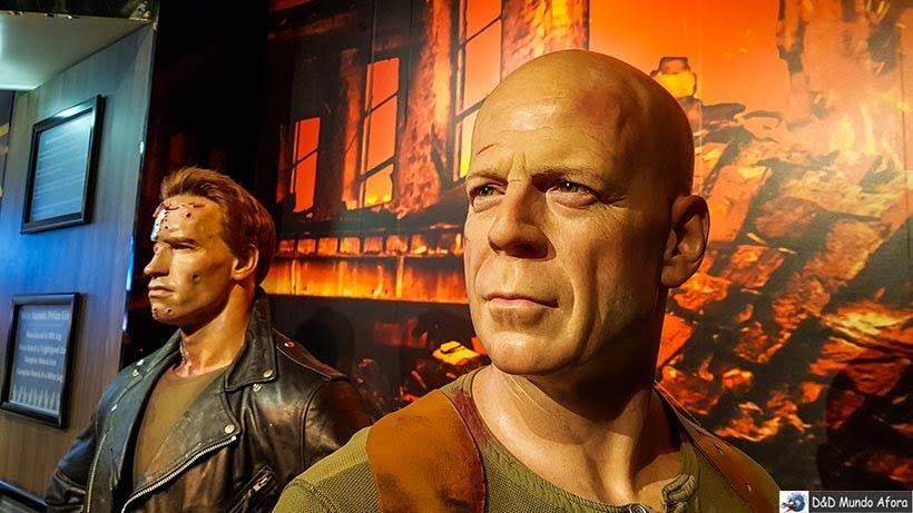 Arnold Schwarzenegger e Bruce Willis - Madame Tussauds: Como visitar o museu de cera de Londres