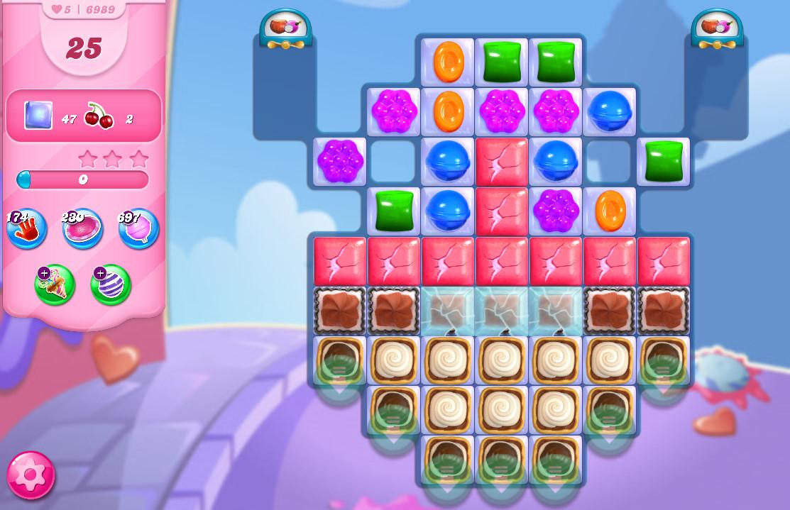 Candy Crush Saga level 6989