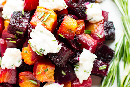 OVEN-ROASTED BEETS WITH HONEY RICOTTA