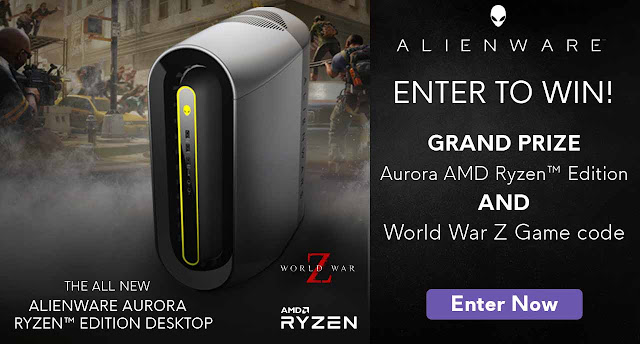 Here are some instructions about how to enter the ALIENWARE World War Z Sweepstakes for your chance to win some really great prizes!
