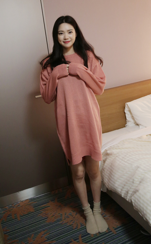 Loose Knit Sweater Dress