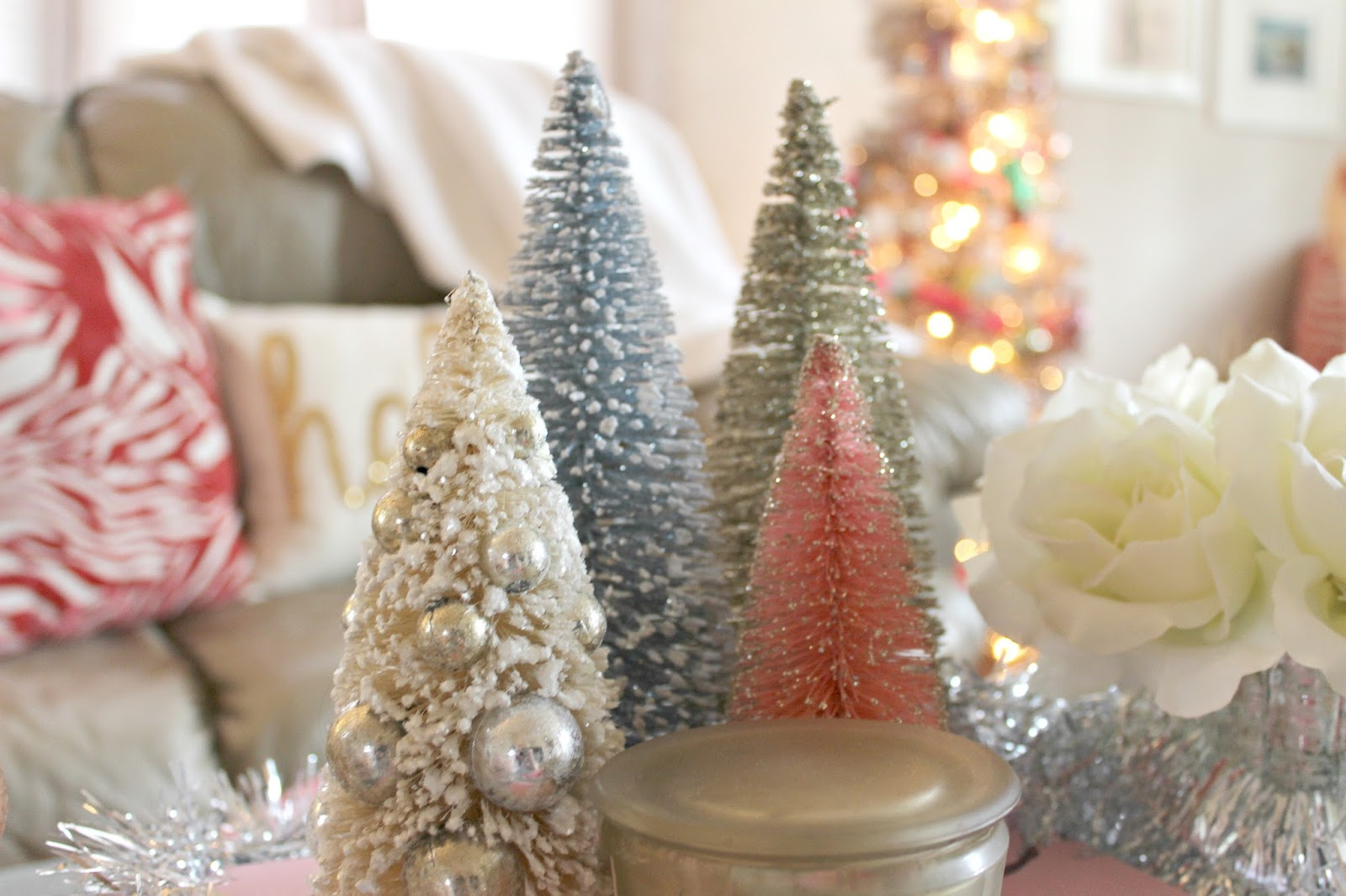 Pink christmas decorations