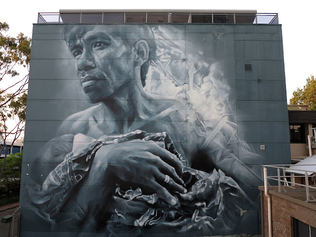 The WonderWalls Street Art Festival is currently taking place on the streets of Wollongong in Australia where Guido Van Helten just wrapped up his latest mural.