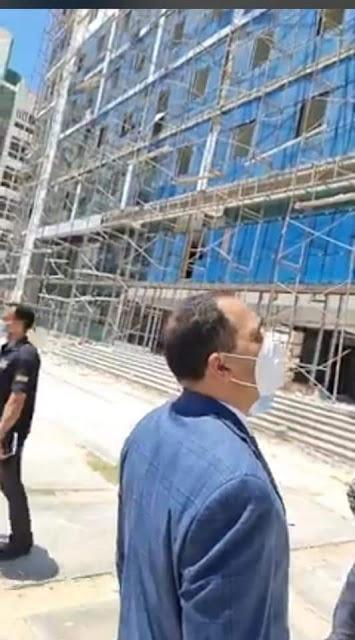 دكتور عبيد صالح رئيس جامعة دمنهور يتفقد المجمع النظرى ويتابع الأعمال فى كليه الهندسه