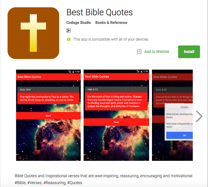Image of: Daily Bible Best Bible Quotes Android App By Codage Studio Codage Studio Best Bible Quotes Android App By Codage Studio Codage Studio