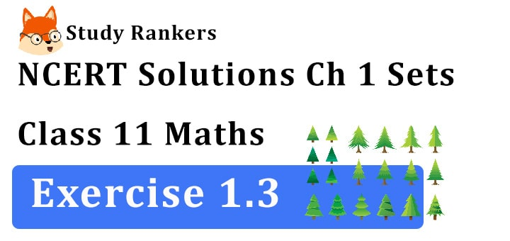 NCERT Solutions for Class 11 Maths Chapter 1 Sets Exercise 1.3