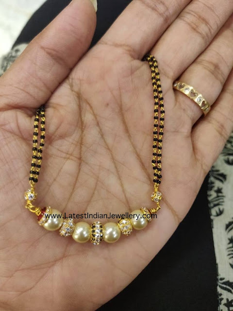 Black Beads with South Sea Pearls