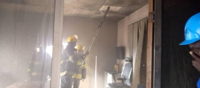 GTBank In Lagos Completely Gutted By Fire