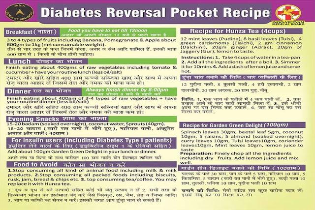 Diabetes Reversal Pocket Recipe