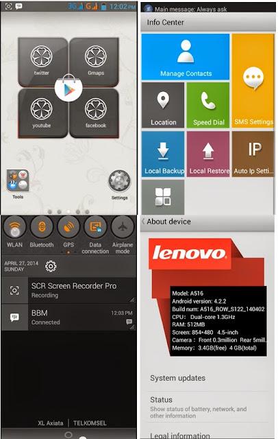 Lenovo A369i Lenovo A516 MOD Custom Rom