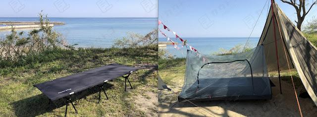 Hawk Zing 折りたたみキャンプコット+蚊帳 使用レビュー