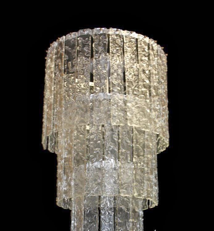 vecchi lampadari : Listelli lavorazione ghiaccio per vecchi lampadari in vetro di murano