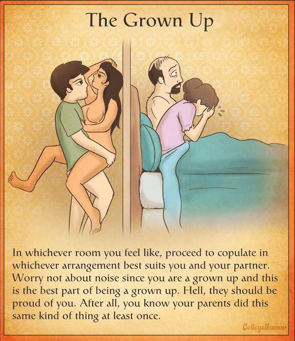 Posições para experimentar na casa dos pais