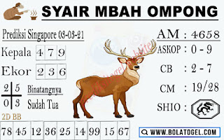 Syair Sgp Mbah Ompong