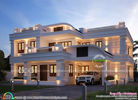 5 bedroom grand and stylish Kerala home design