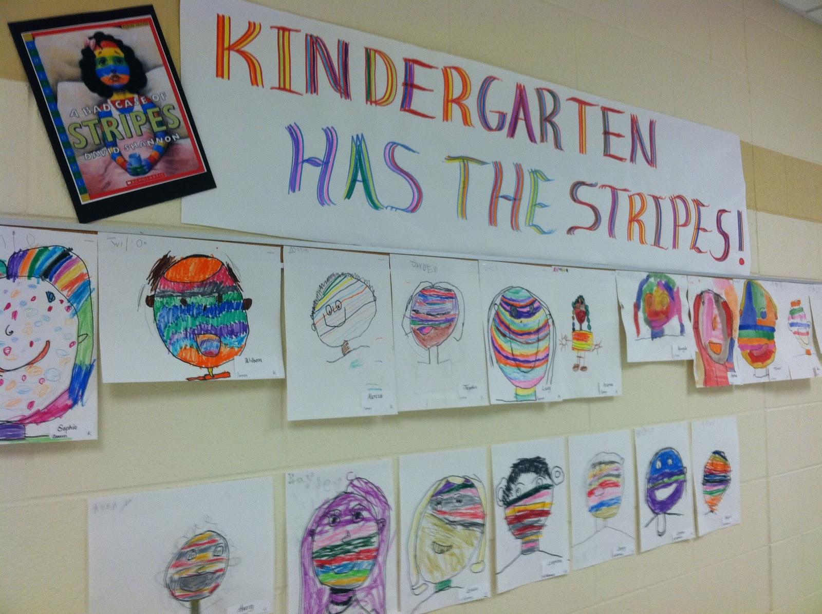 O Neill S Art Room Kindergarten Has The Stripes