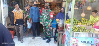 Koramil 0820/23 Gading Laksanakan Operasi Yustisi Disiplin Prokes