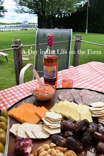 Charcuterie Tray with Wine