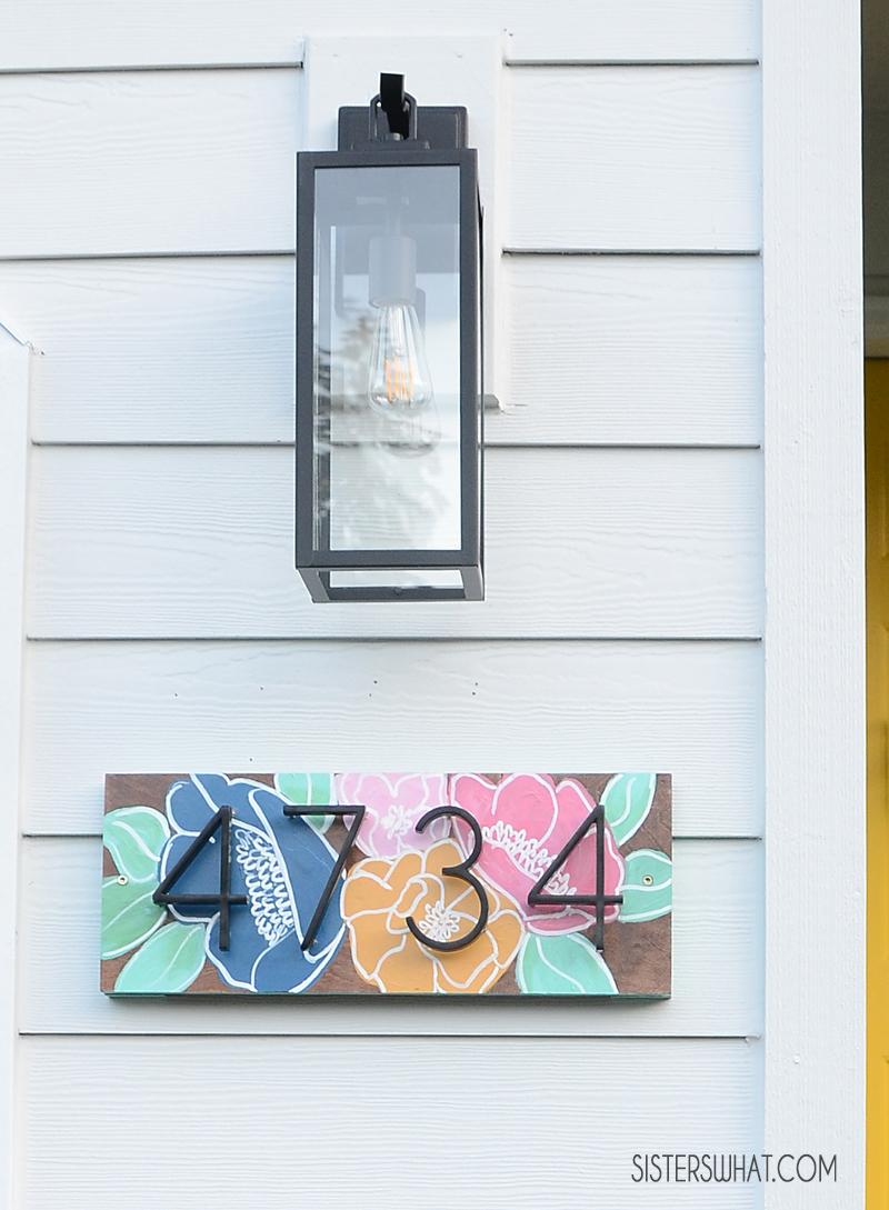 DIY house number sign