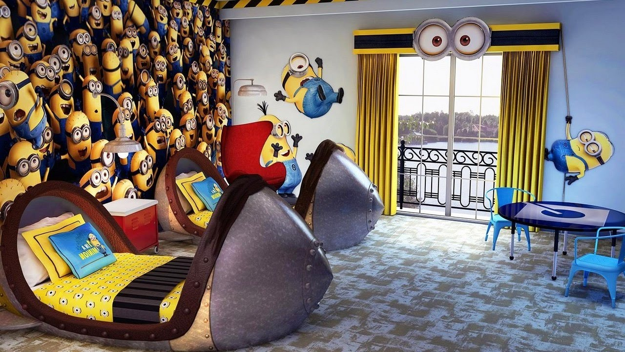 Awesome Minions Theme Bedroom Decorating Ideas ~ DIY Decor ...