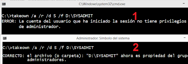 Windows: Actualmente no tiene permiso de acceso a esta carpeta