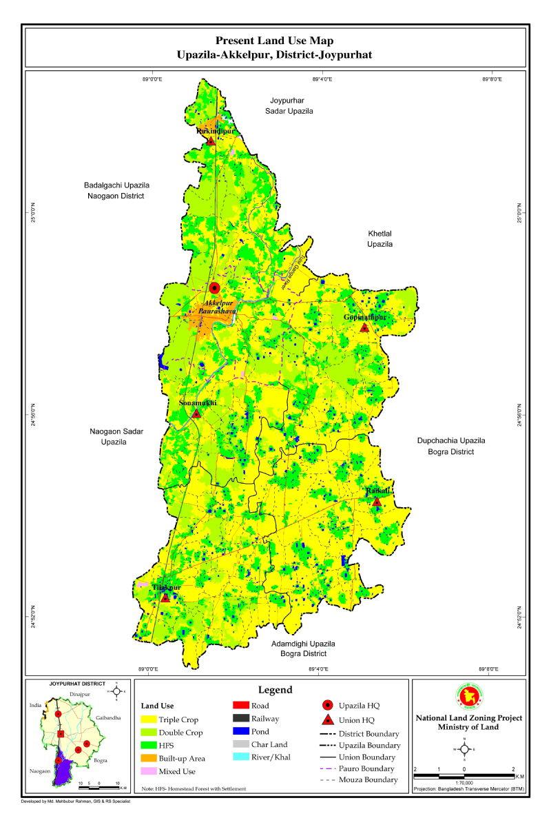 Akkelpur Upazila Mouza Map Joypurhat District Bangladesh