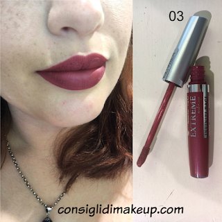 swatches rossetto liquido extreme make up 03