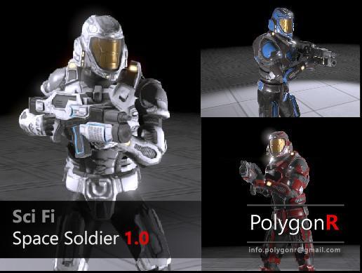 Sci Fi Space Soldier  Sci-fi-space-soldier-polygonr