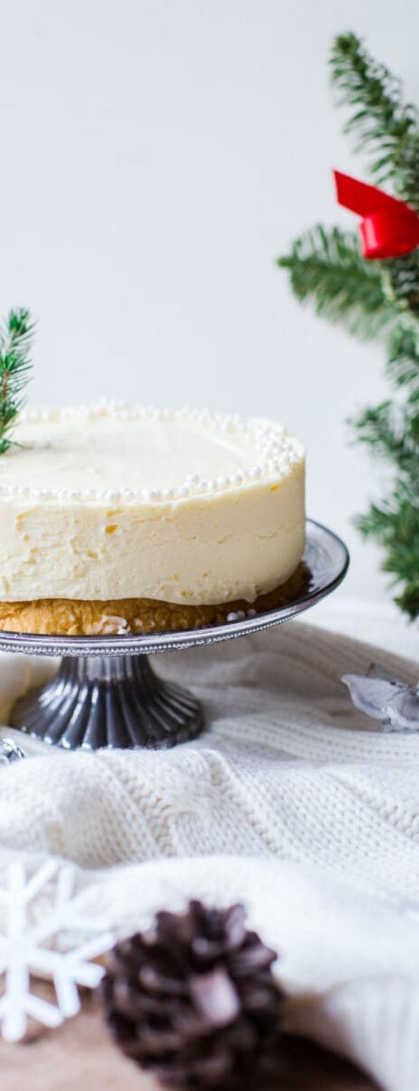 White Christmas Truffle Cake #cake #christmas