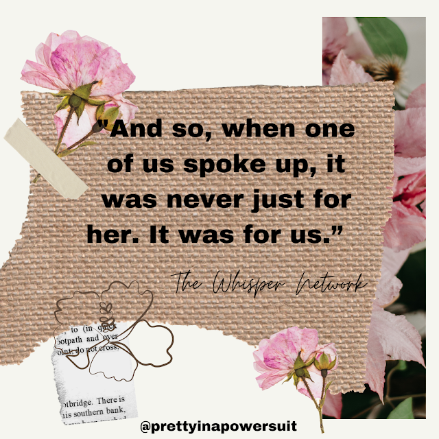 Whisper Network Book Quote Collage