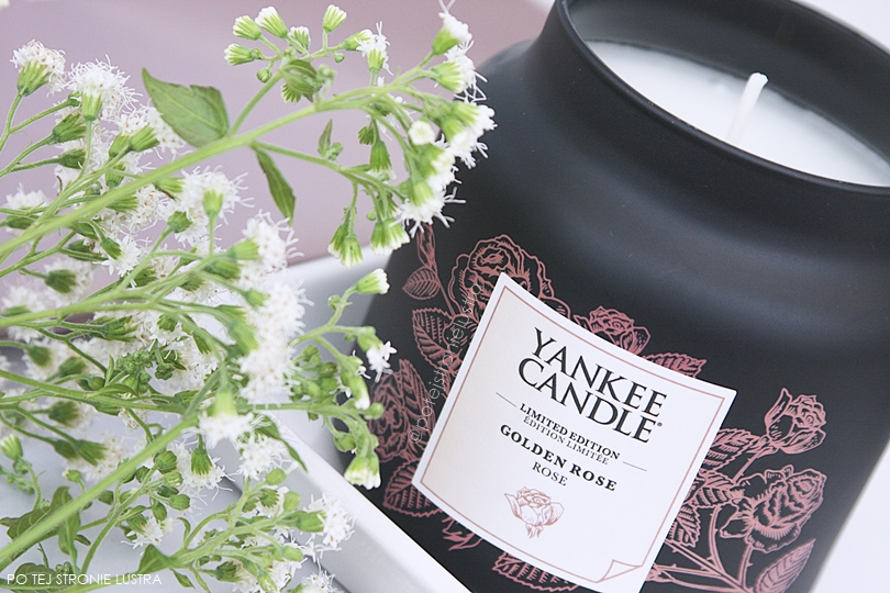 średni słój yankee candle golden rose