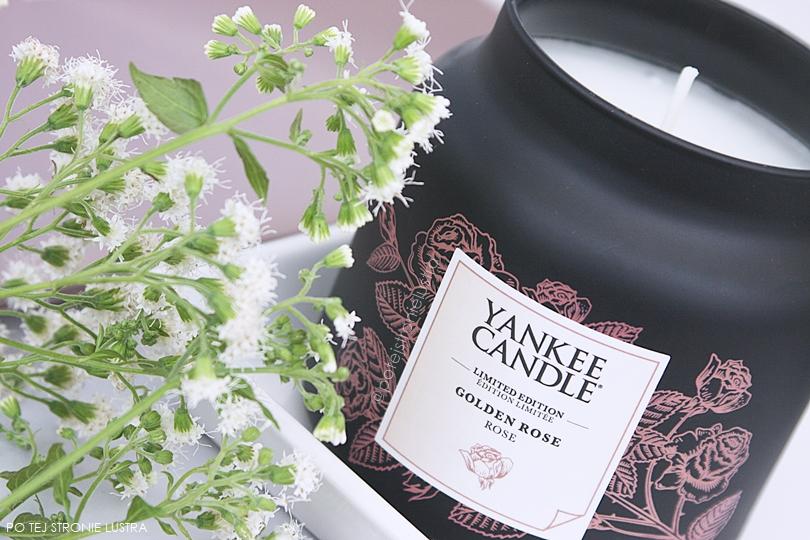 średni słój yankee candle golden rose