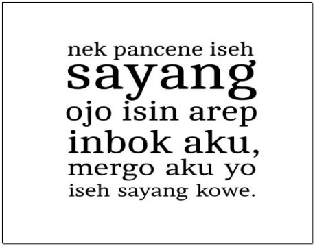 Kumpulan Kata kata Lucu Bahasa Jawa