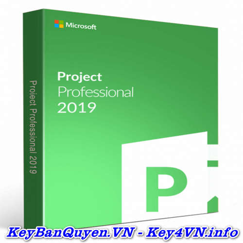 Bán key bản quyền Project Professional 2019 Full 32 và 64 Bit .