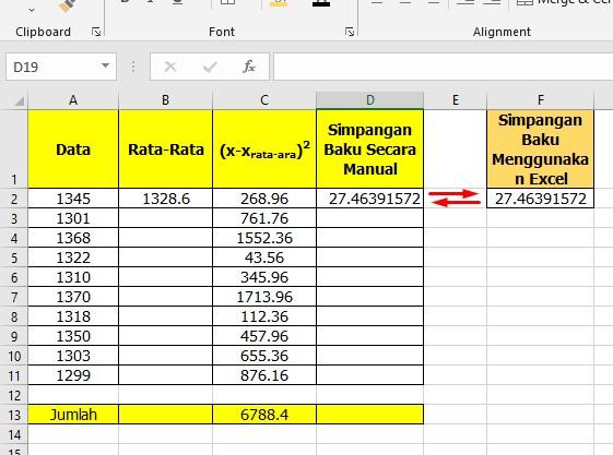 Cara Menghitung Simpangan Baku di Excel dengan Mudah