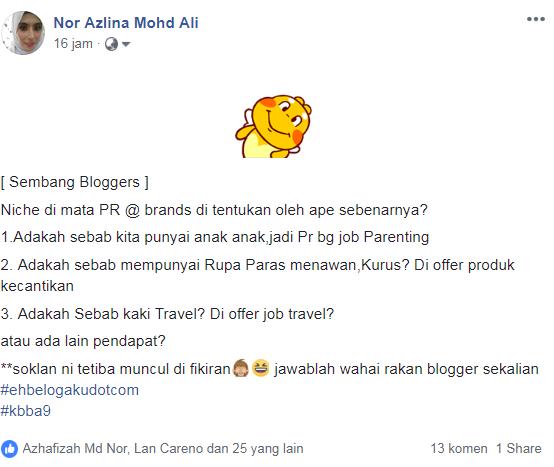 Sembang blogger
