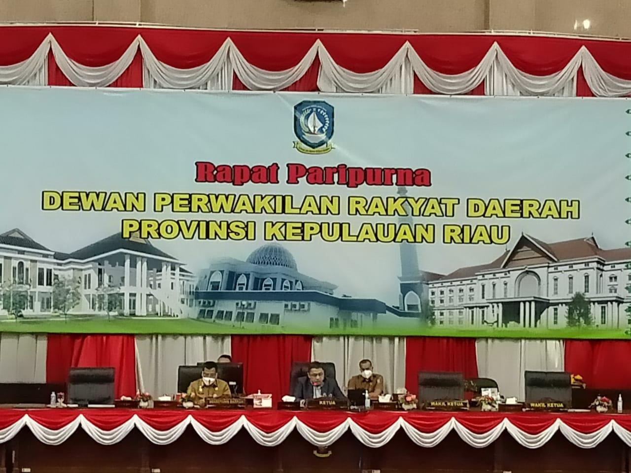 Ini Jawaban Gubernur Kepri Atas Pandangan Umum Fraksi Fraksi Tentang Perseroda Pembangunan Kepri dan Perusahaan Perseroda Pelabuhan Kepri