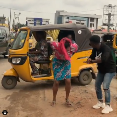 """Iya Gbogbo Street"" - DJ Cuppy Dances Zanku On The Street Of Lagos"