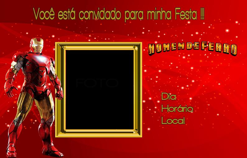 Para hacer invitaciones, tarjetas, marcos de fotos o etiquetas, para imprimir gratis de Iron Man.