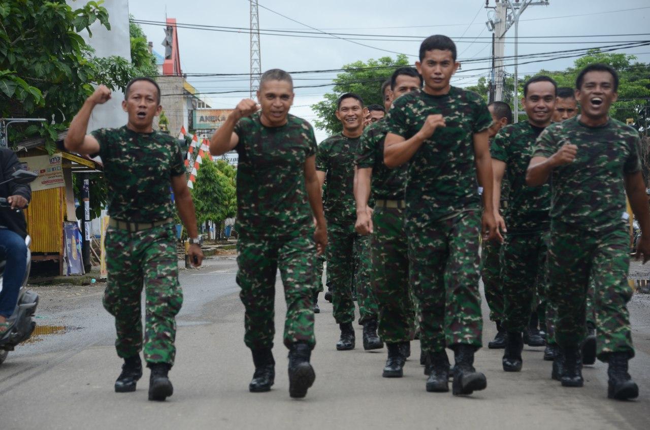 Minggu Militer, Personel Makodim 1407/Bone Laksanakan Pembinaan Fisik