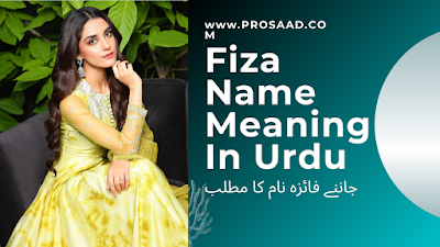 Fiza Name Meaning in Urdu & Fiza Name Other Variant