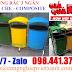 Thùng rác  2 ngăn , 3 ngăn mái che composite khuyến mãi 2020 tại Quận Bình Tân- Hồ Chí Minh