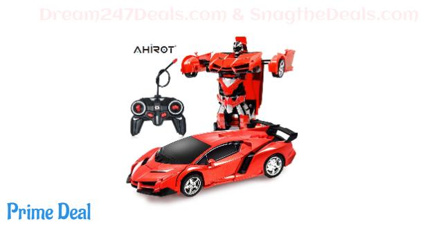 35% OFF RC Car for Kids Transform Car Robot, Deformation Car Model Toy 1:18 Transformation Remote Control Vehicle for Children